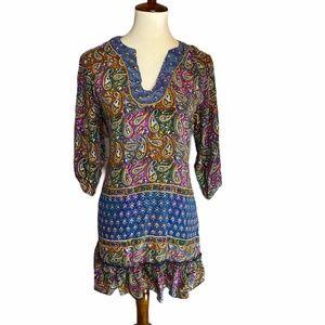 Tolani Silk Boho Tunic